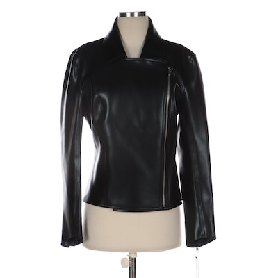"""Norma Kamali Motorcycle Jacket with Signed """"I Am Invincible"""" Book"""