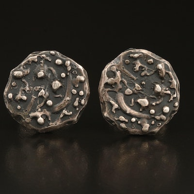 Sterling Abstract Cufflinks