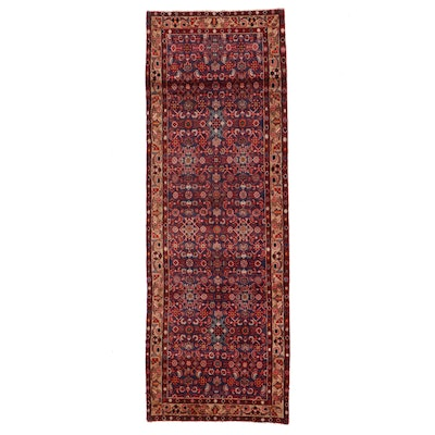 3'5 x 10' Hand-Knotted Persian Malayer Long Rug
