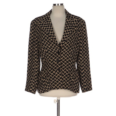 """Norma Kamali Patterned OMO Jacket with Signed """"I Am Invincible"""" Book"""