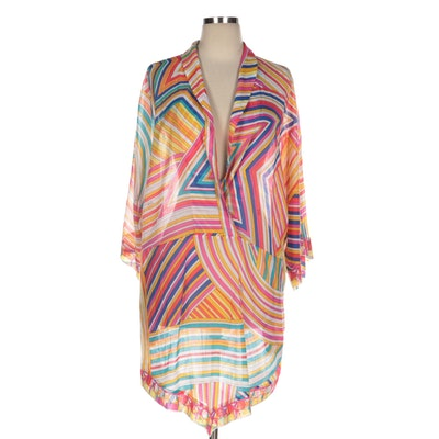 Emilio Pucci Graphic Striped Cotton Weave Cover-Up