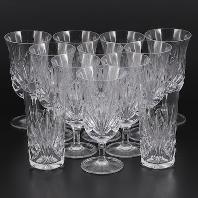 """Gorham """"Cherrywood Clear"""" Crystal Footed Iced Tea and Highball Glasses"""
