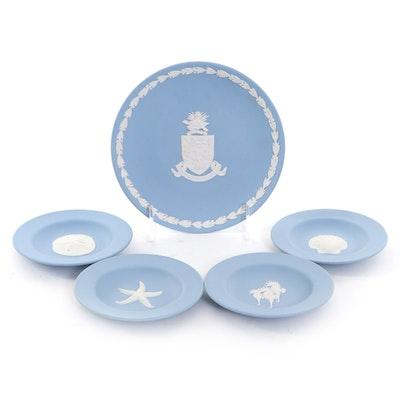 Wedgwood Blue Jasperware Trinket Dishes