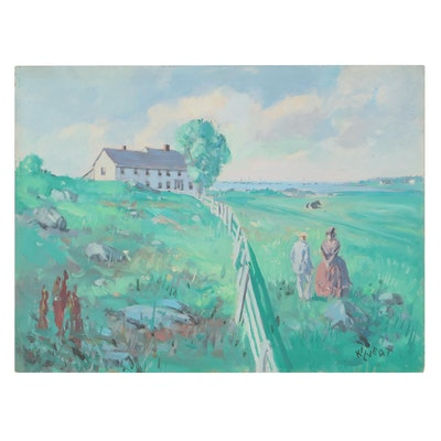 Benjamin Cory Kilvert Oil Painting of Auldstock, Circa 1940