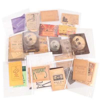 Photography Ephemera Including Film Wallets, Negatives, Envelopes and More