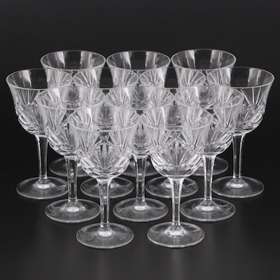 """Gorham """"Cherrywood Clear"""" Crystal Wine Glasses, Mid to Late 20th Century"""