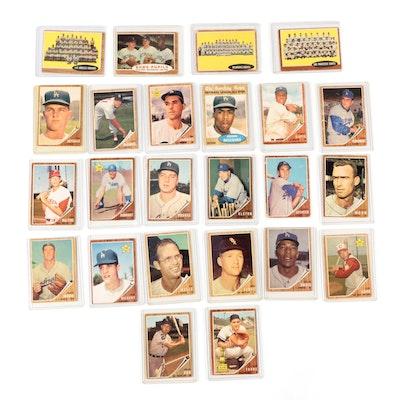 1962 Topps Baseball Cards with Stars and Hall of Fame Players