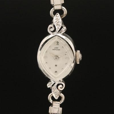 14K Lady Hamilton Diamond Wristwatch