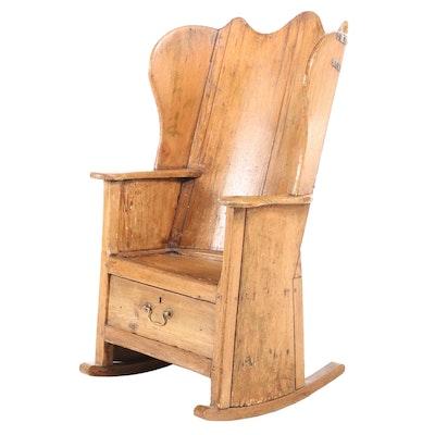 English Pine Lambing Chair, Early 19th Century