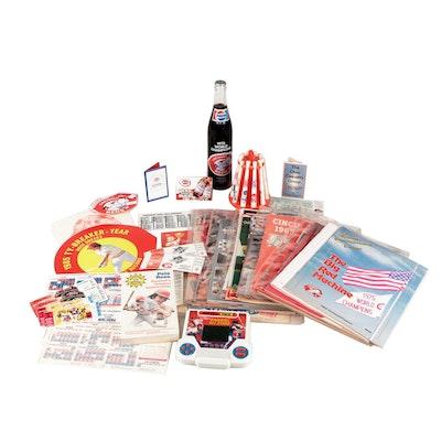 1960s - 1990s Cincinnati Reds Items with Signed Ticket, Programs, Score Cards