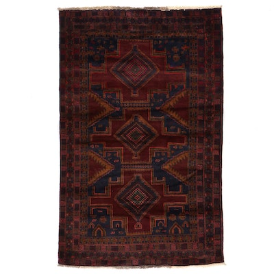 3'10 x 6'1 Hand-Knotted Persian Baluch Area Rug