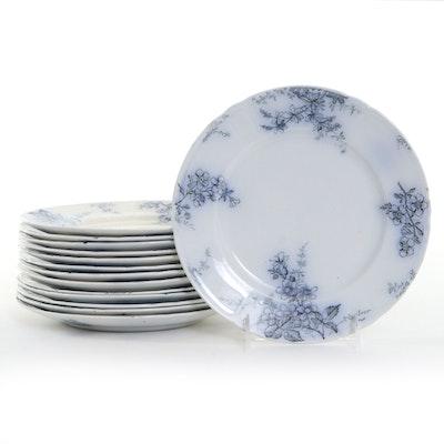 "Alfred Meakin ""Blossom"" Transferware Luncheon Plates, Late 19th Century"