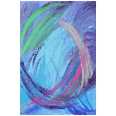 Melvin Bedrick Abstract Oil Painting, 2016