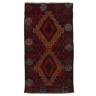 3'4 x 6'4 Hand-Knotted Afghan Baluch Area Rug