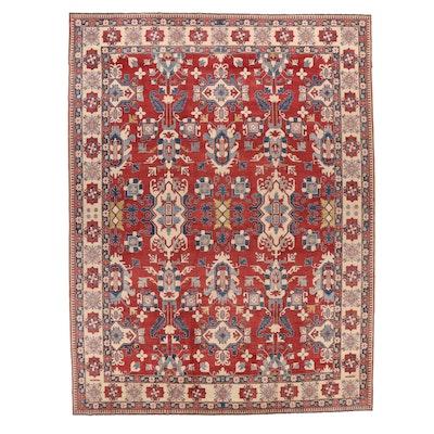 13'6 x 17'10 Hand-Knotted Afghan Tribal Kazak Room Sized Rug