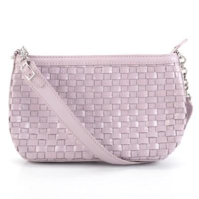 Elliott Lucca Shoulder Bag in Lilac Woven Leather