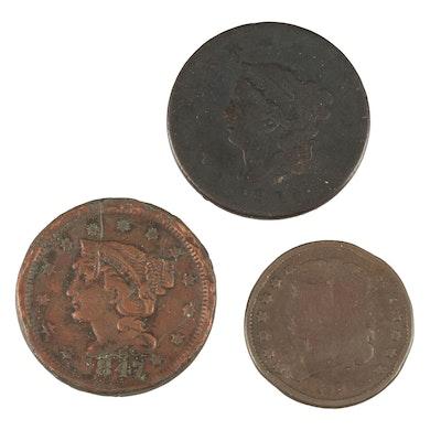 Three Antique United States Coins