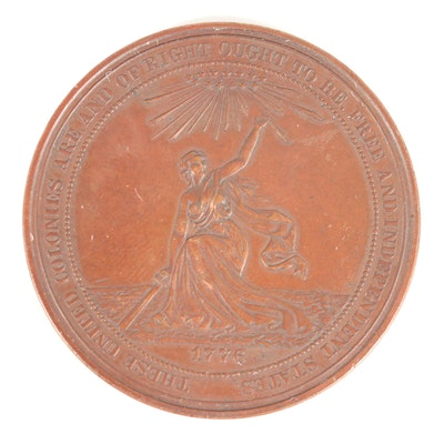 1876 100th Anniversary of American Independence Bronze Medal