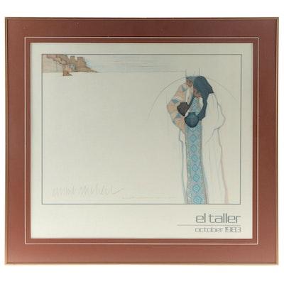 "Amado Peña Offset Lithograph Poster ""ElTaller,""  Late 20th Century"