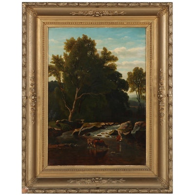 Frans Keelhoff Pastoral Landscape, Late 19th Century