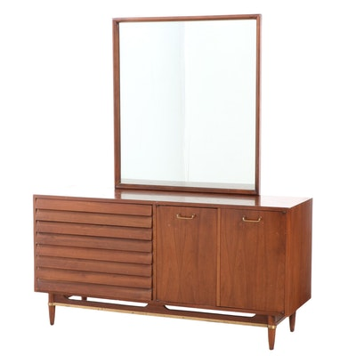 American of Martinsville Mid Century Modern Walnut Six-Drawer Dresser