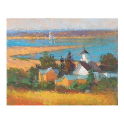 Landscape Oil Painting, Circa 2000