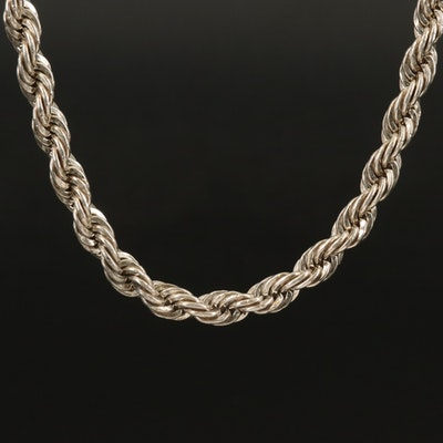 Sterling Braided Necklace