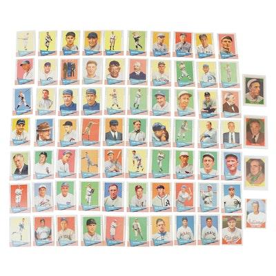 """1960-1961 Fleer """"Baseball Greats"""" Baseball Cards Including #1 Checklist"""