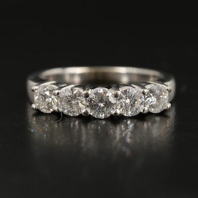 14K 1.00 CTW Diamond Five Stone Ring