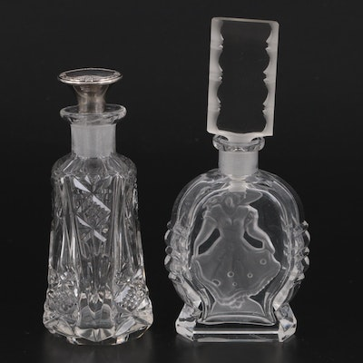 Etched and Pressed Glass Perfume Bottles
