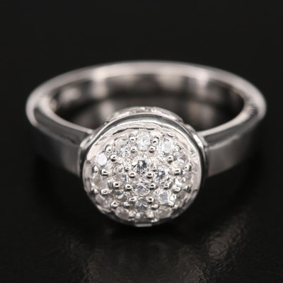 Sterling Zircon Cluster Dome Ring
