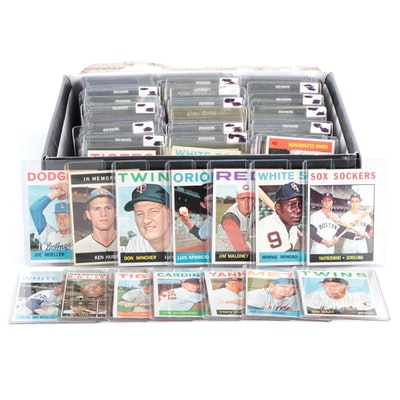 1964 Topps Baseball Cards with Star Players and League Leaders