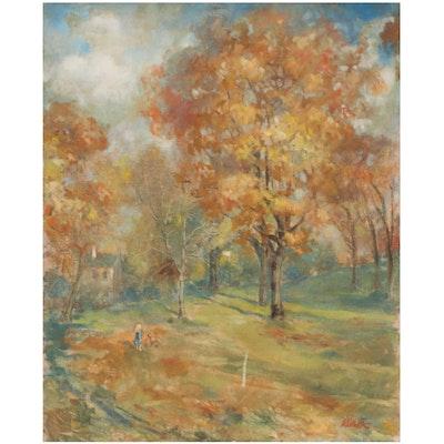 Kamil Kubik Landscape Oil Painting of Autumn Scene