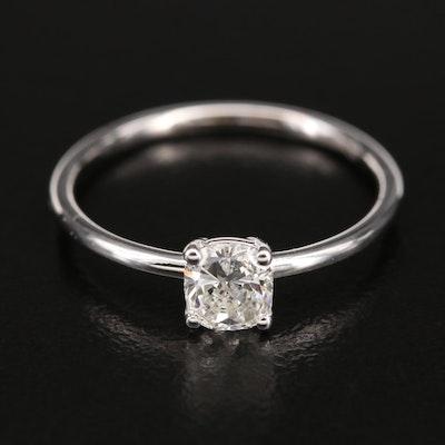 14K 0.42 CT Diamond Solitaire Ring