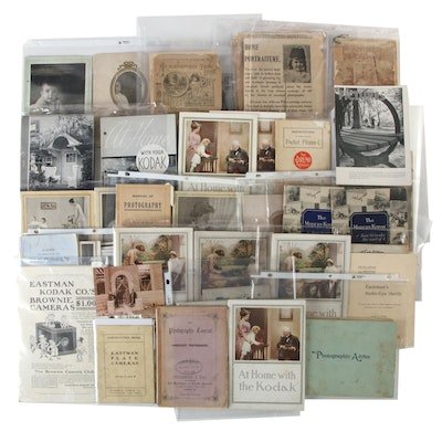 Amateur Photography Ephemera Including Manuals, Catalogs, Late 19th/Early 20th C