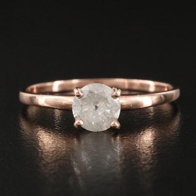 14K Diamond Solataire Ring