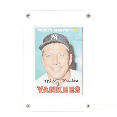 1967 Mickey Mantle Topps #150 New York Yankees Baseball Card