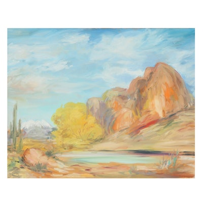 Kamil Kubik Landscape Oil Painting of Mountain Scene