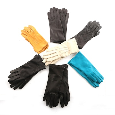 Lord & Taylor, Aris, Hartford, and Other Leather Cashmere and Silk-Lined Gloves