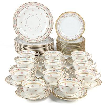 George Jones & Sons Bone China Dinnerware with Limoges Porcelain Dessert Plates