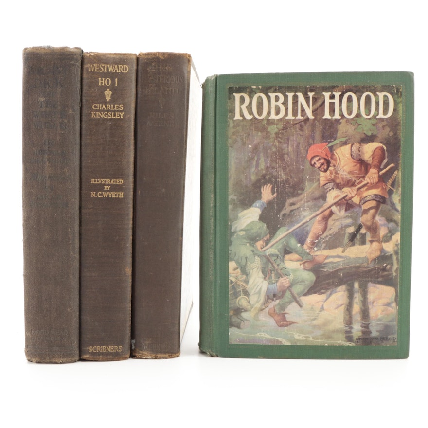 """Illustrated Classics Including """"Robin Hood,"""" Early to Mid-20th Century"""