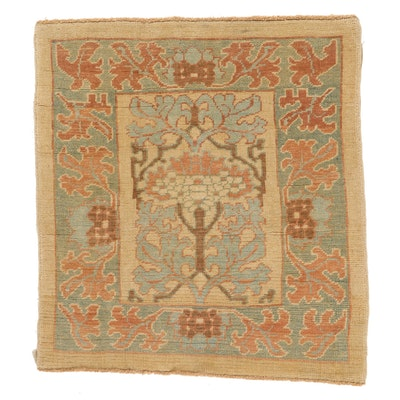 4' x 4'5 Hand-Knotted Turkish Donegal Area Rug