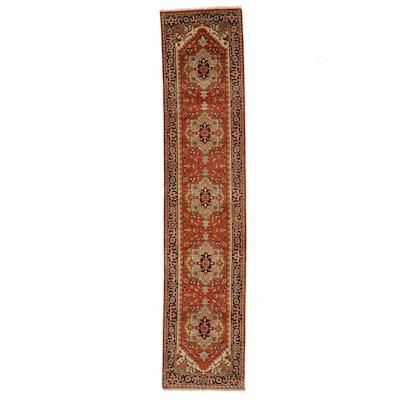 2'7 x 11'11 Hand-Knotted Indo-Persian Heriz Carpet Runner