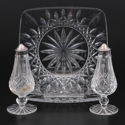 """Waterford Crystal """"Lismore"""" Square Plates and Shakers"""