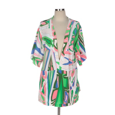 Emilio Pucci Abstract Print Cotton Blend Cover-Up