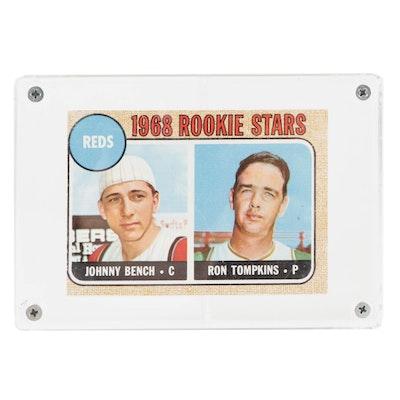 1968 Johnny Bench Topps #247 Cincinnati Reds Rookie Card