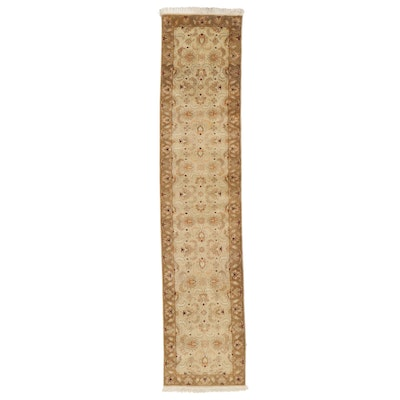 2'7 x 12'5 Hand-Knotted Indo-Turkish Oushak Carpet Runner