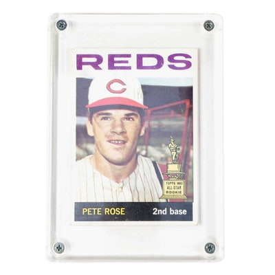 "1964 Pete Rose Topps #125 Cincinnati Reds ""2nd Year"" Baseball Card"
