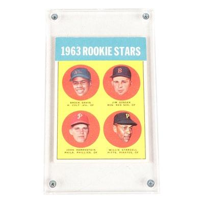 1963 Willie Stargell Topps #553 Rookie Baseball Card