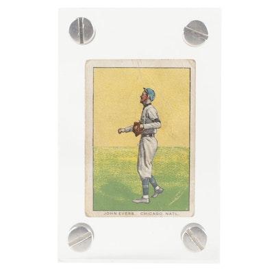 "1911 John Evers Brunners Bread General Baking ""D304"" Chicago Cubs Baseball Card"
